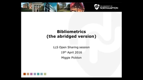 Thumbnail for entry Bibliometrics (abridged)