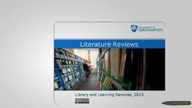 Thumbnail for entry Literature Reviews