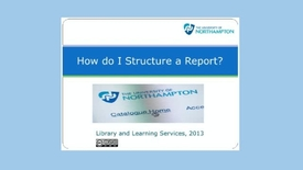 Thumbnail for entry How do I Structure a Report