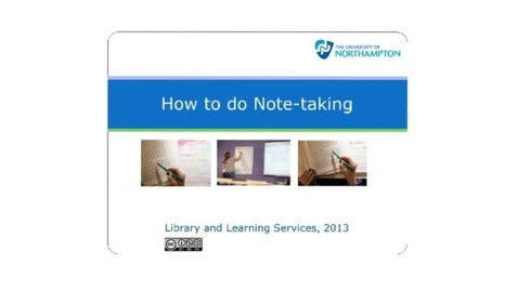 Thumbnail for entry How to do Note-taking