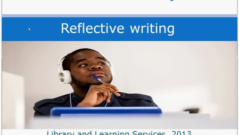 Thumbnail for entry Reflective Writing