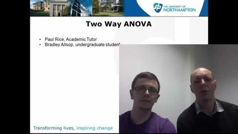 Thumbnail for entry Two way ANOVA