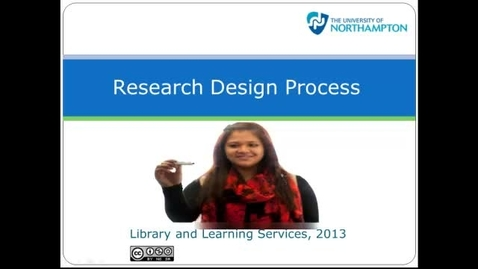 Thumbnail for entry Research Design Process