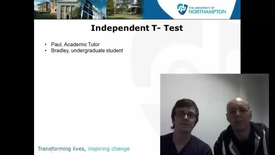 Thumbnail for entry Independent T-test
