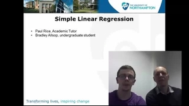 Thumbnail for entry Simple Linear Regression