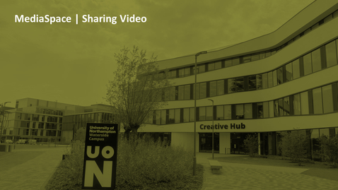 Thumbnail for entry How can I share my video with a colleague?