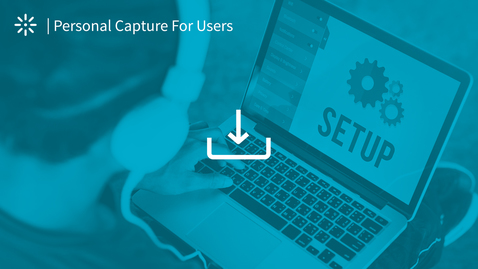 Thumbnail for entry How to Install the Kaltura Personal Capture Application