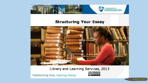 Thumbnail for entry Structuring your essay