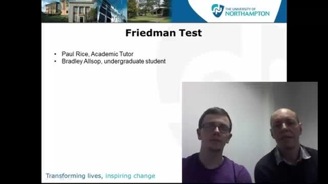 Thumbnail for entry Friedman test