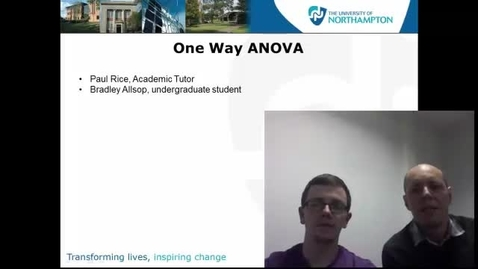 Thumbnail for entry One Way ANOVA