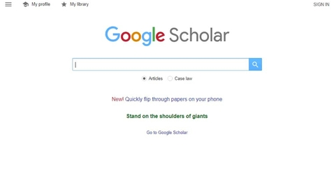 Thumbnail for entry Google Scholar