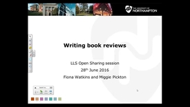 Thumbnail for entry Writing book reviews - LLS Open Sharing 28/6/16