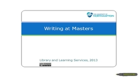 Thumbnail for entry Writing at Masters level