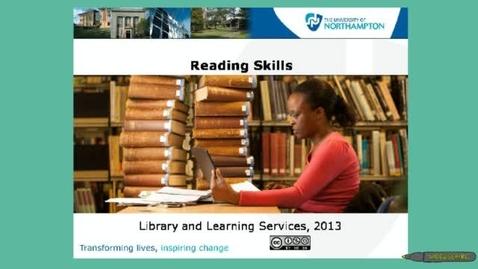 Thumbnail for entry Reading skills