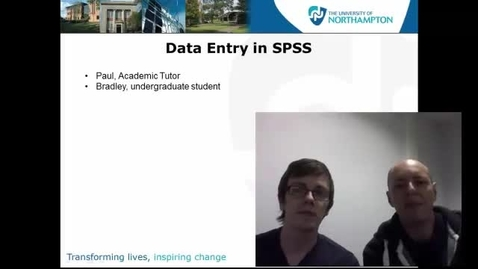 Thumbnail for entry Data Entry in SPSS