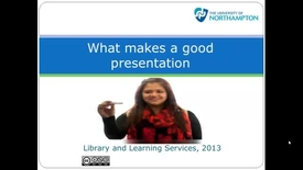 Thumbnail for entry What makes a good presentation