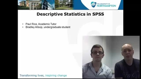 Thumbnail for entry Descriptive Statistics in SPSS